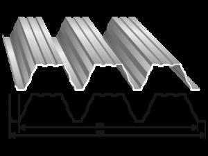 Tabla trapezoidala T 55